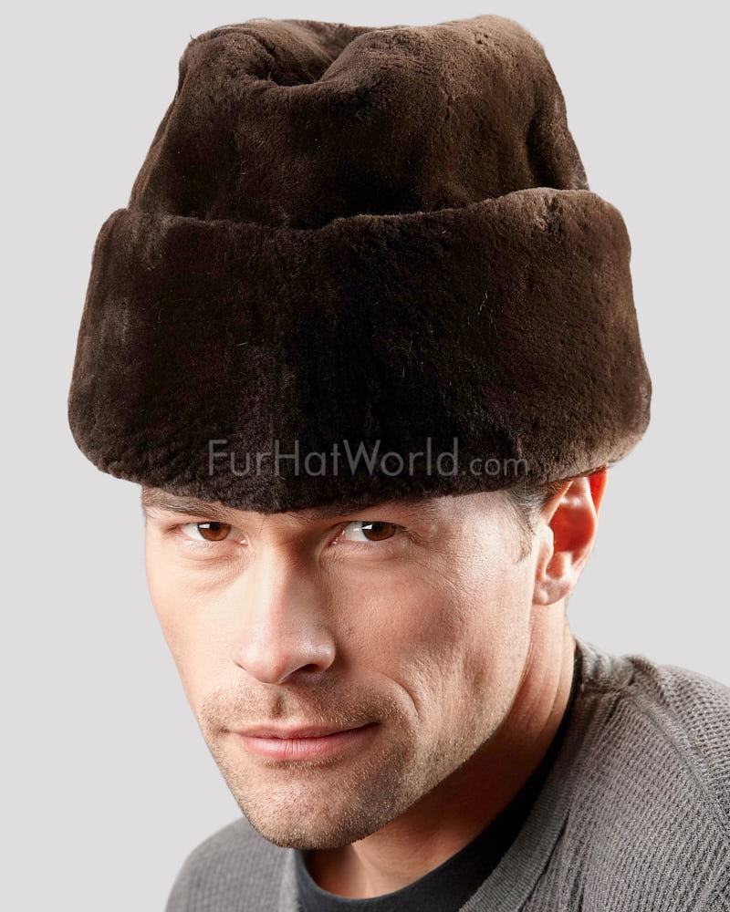 Brown Sheared Beaver Russian Cossack Hat for Men