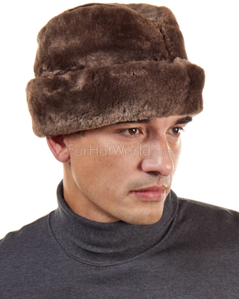 Light Brown Sheared Beaver Russian Cossack Hat