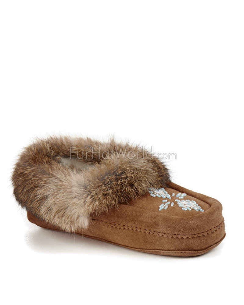 Shearling Lined Tamarack Moccasin in Tan