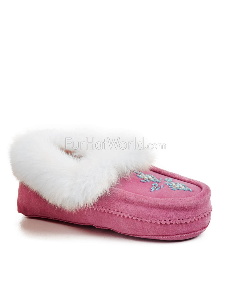 Shearling Lined Tamarack Moccasin in Pink