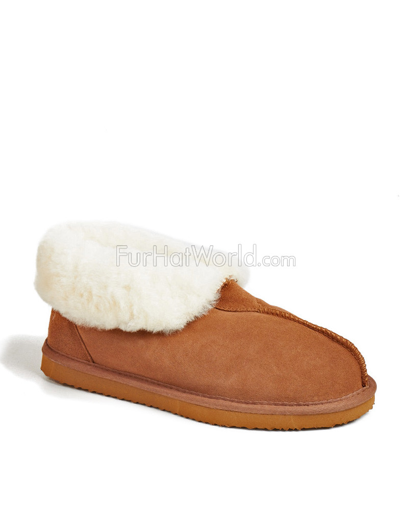 Shearling Sheepskin Hard Sole Slippers