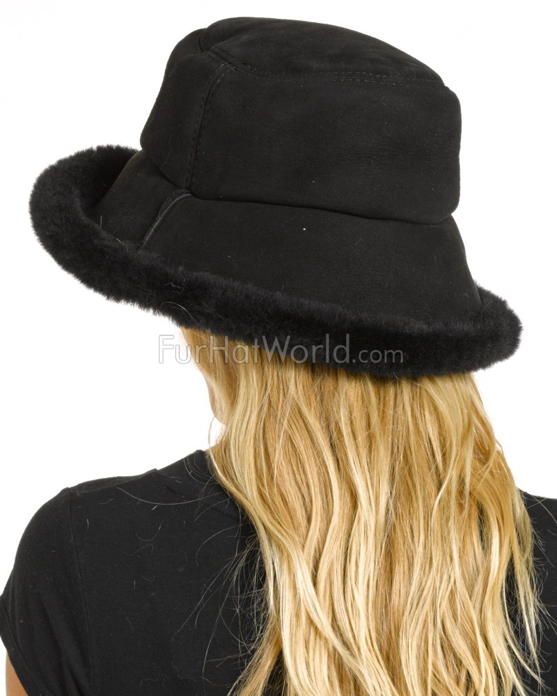 e8f0ce05546c92 The Toronto Shearling Sheepskin Hat in Black: FurHatWorld.com