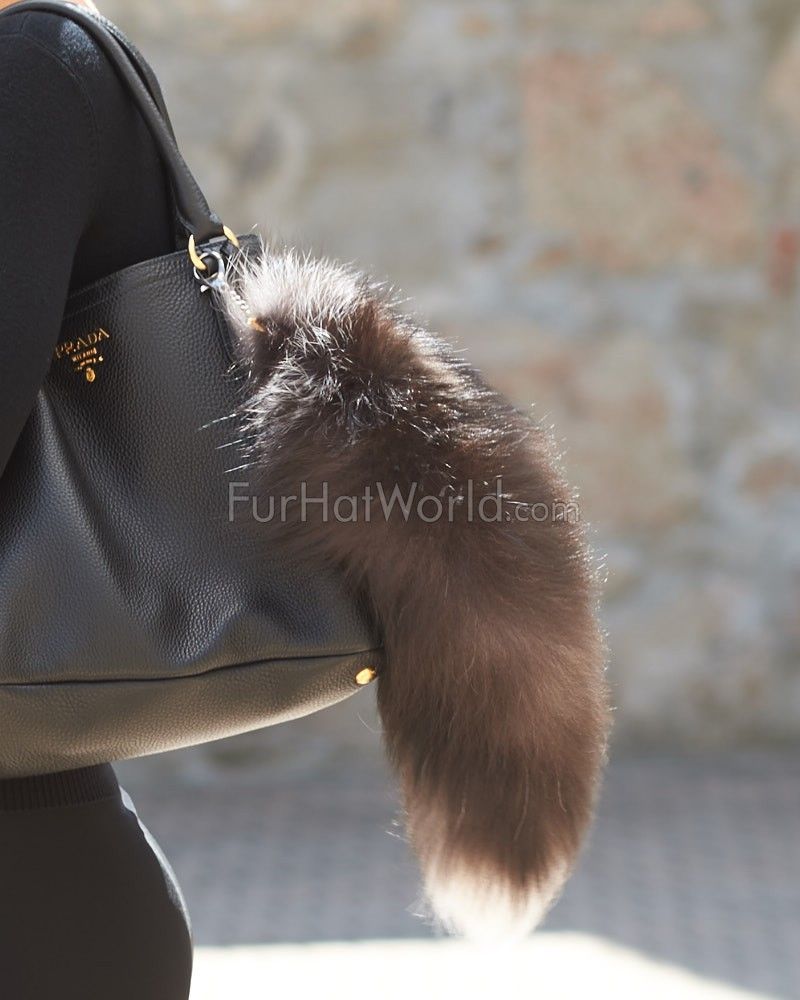 Silver Fox Fur Tail