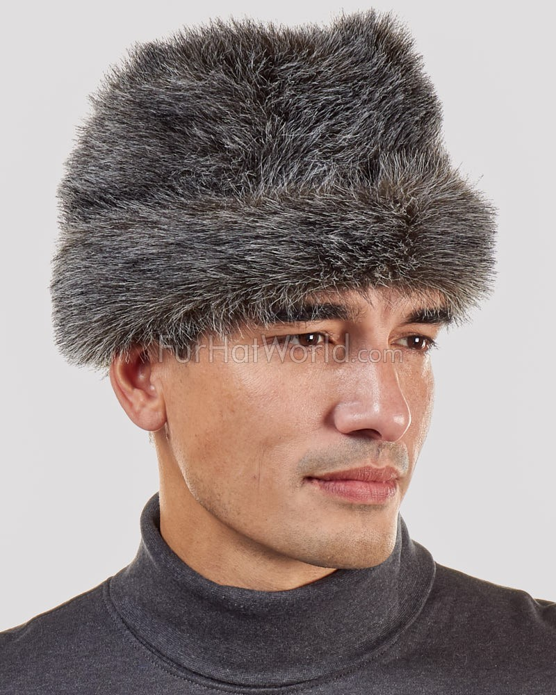 1ce536d3a2de54 Faux Fur Raccoon Cossack Hat for Men: FurHatWorld.com