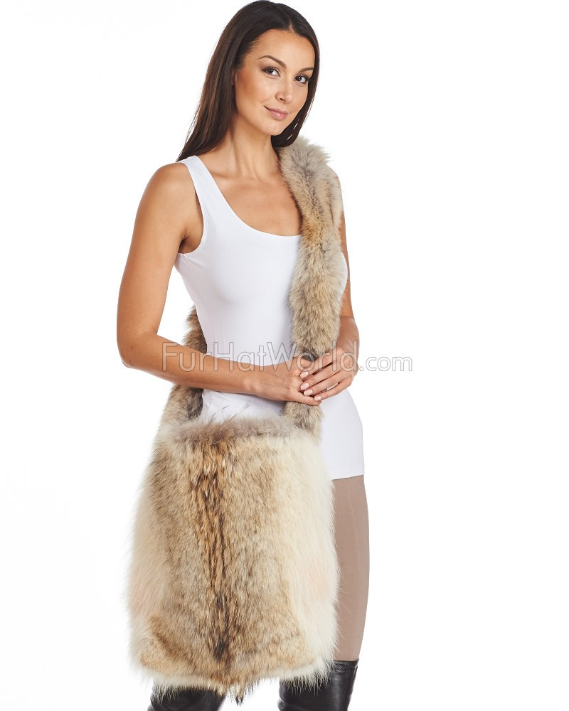 Summer Coyote Fur Sling Bag