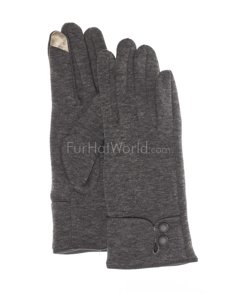 The Erin Touch Tech Glove in Grey
