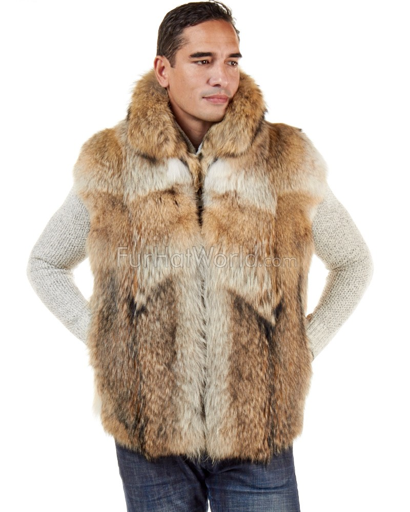 The Ethan Coyote Fur Vest for Men