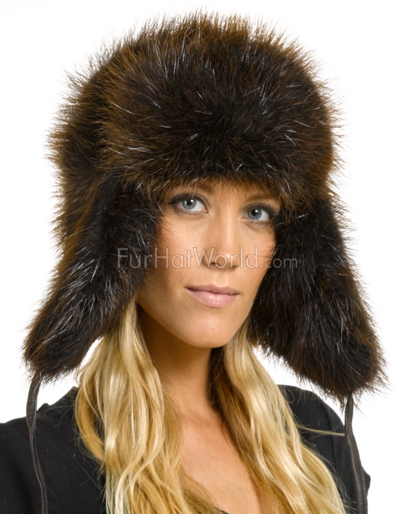 Womens Beaver Full Fur Russian Hat