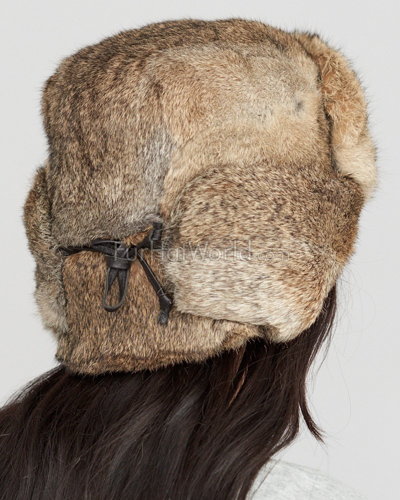 the moscow fur rabbit russian hat in brown