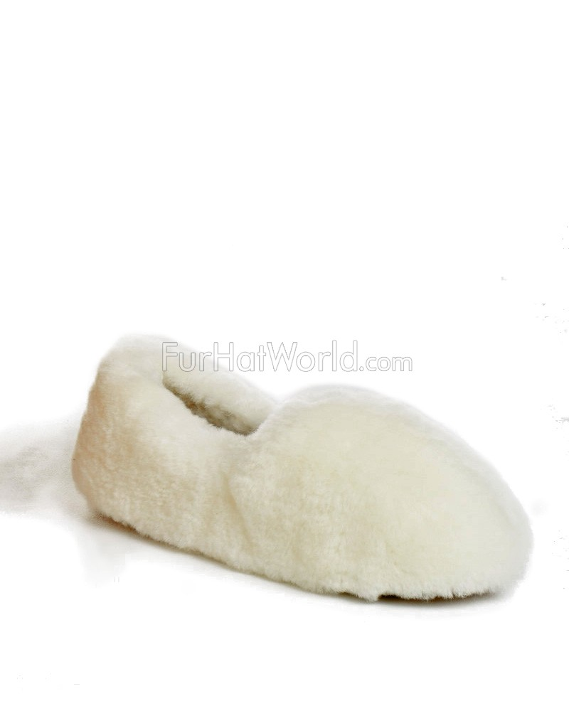Women's Full Sheepskin Fluffy Slippers