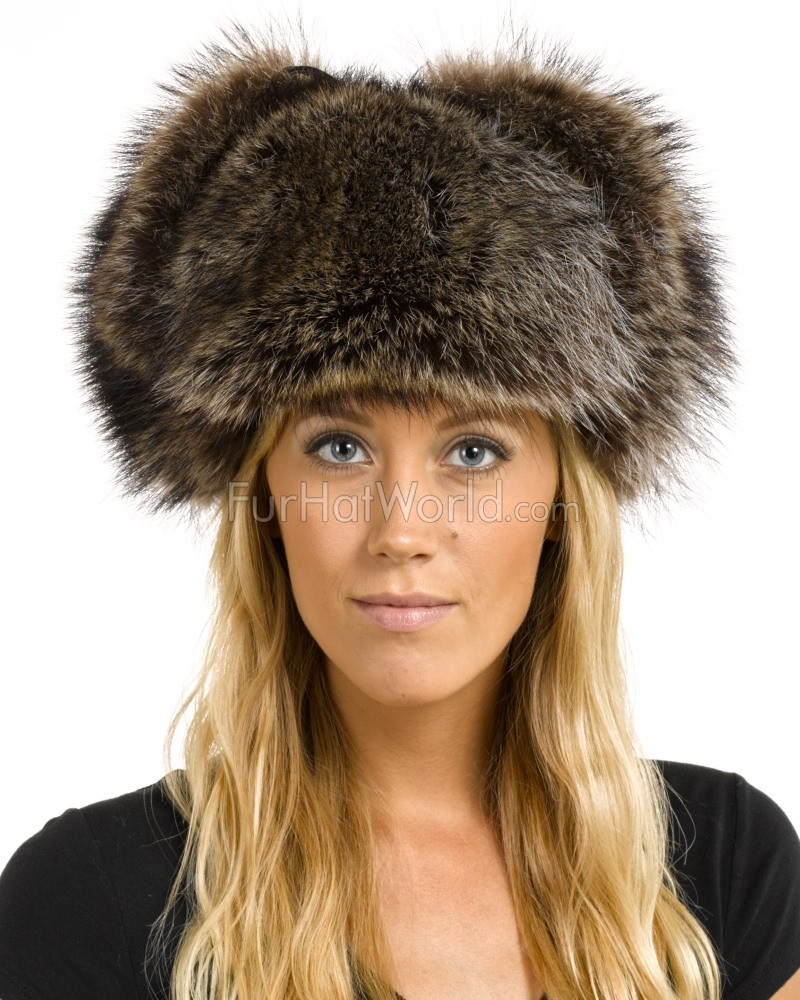 raccoon fur russian hat furhatworld