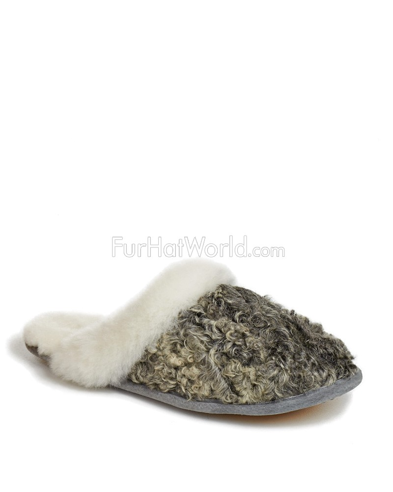 Womens Shearling Sheepskin and Persian Lamb Slipper