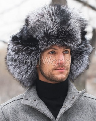 Silver Fox Full Fur Russian Hat