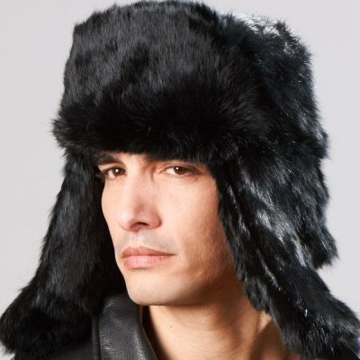 rabbit fur ushanka hat