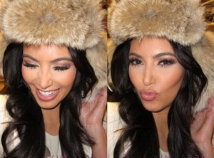 Kim Kardashian Spotted in an Amazing Fur Hat!!