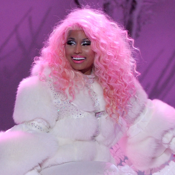 Nicki Minaj Performs in Fur