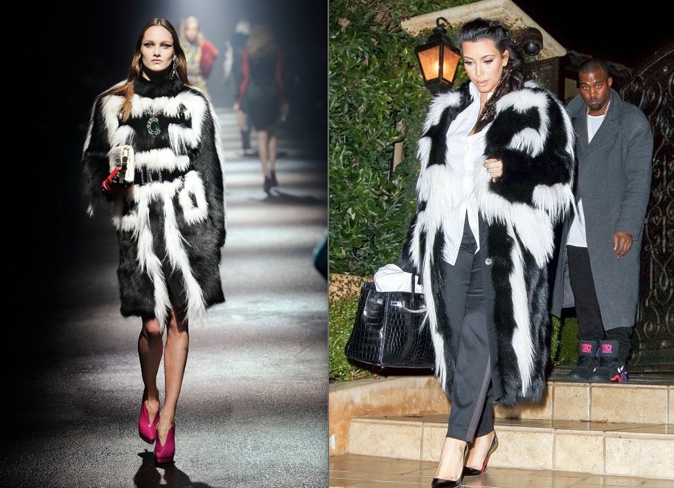 Kim Kardashian wearing Fashionable Fur