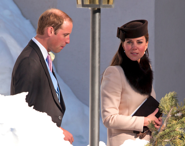 Kate Middleton Accessorizes With A Fur Collar