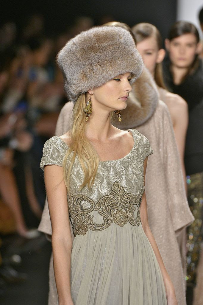 669d1caa791 Badgley Mischka Fall 2014-Winter 2015 - Fur Hat World