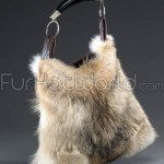 Coyote Fur Horn Handbag / Purse