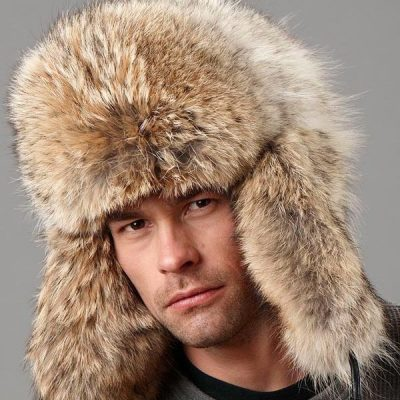 Coyote russian full fur hat