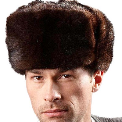 mens mink fur hat