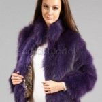Fox Fur Jacket - Purple