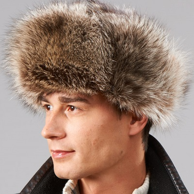Raccoon fur trooper hat
