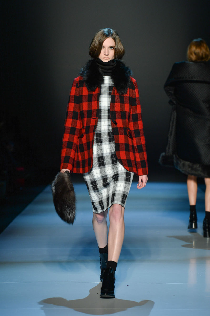 Pink Tartan Furs At Toronto Fashion Week Fur Hat World