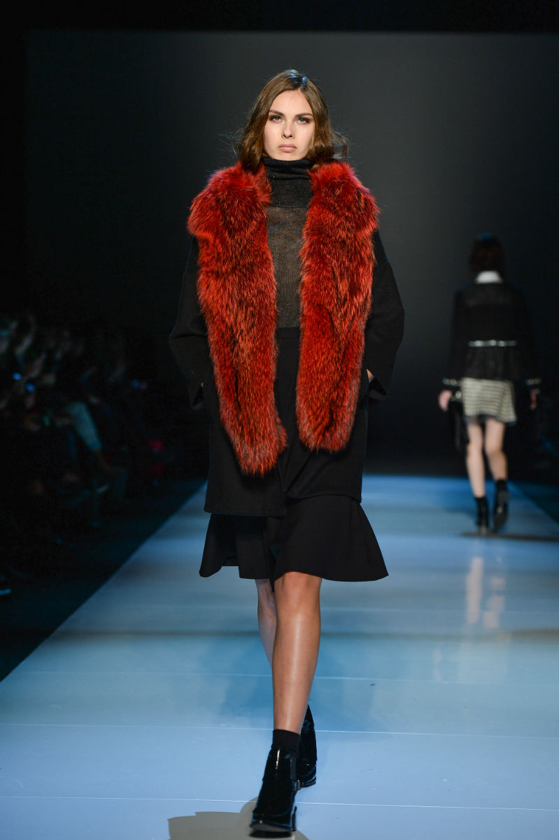 Pink Tartan Furs at Toronto Fashion Week