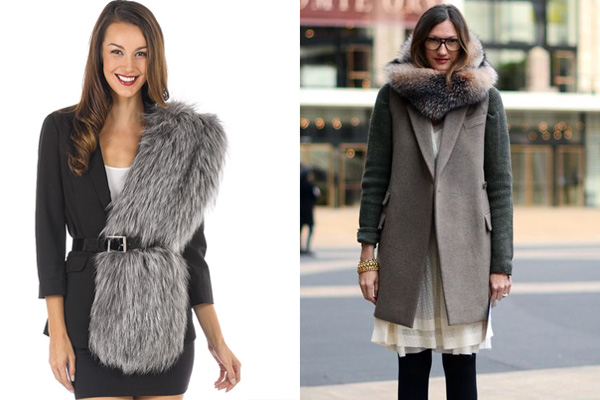 The Addison Silver Fox Fur Stole
