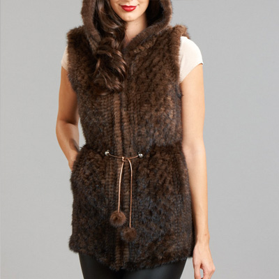 knit mink vest summer