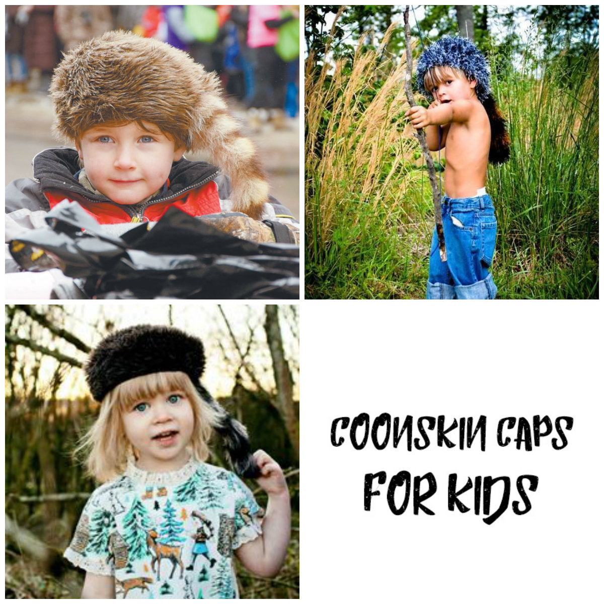 Coonskin caps aren t just for the prairie anymore! Your little ones will  adore the look and feel of a real coonskin hat d375e7721f8