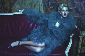 Ellie Goulding Flaunting in Fur