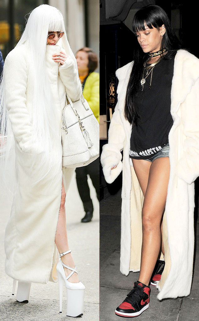 Lady Gaga vs Rihanna is Full Length Fur