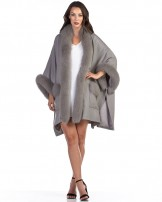 Fox Fur Trimmed Cashmere Capes