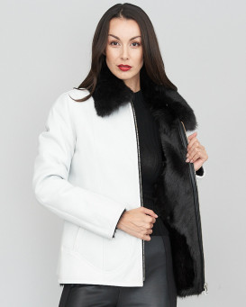 Aubrielle White Toscana Sheepskin Jacket