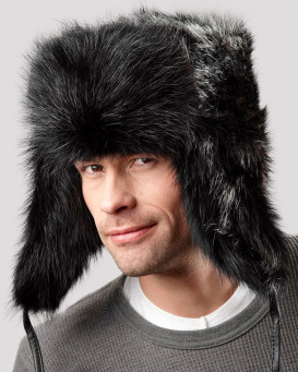 Black Beaver Full Fur Russian Hat for Men