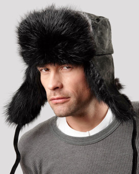 The Black Beaver Russian Trooper Hat for Men