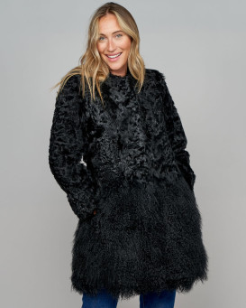 Breanna Lamb Fur and Mongolian Coat