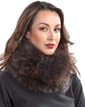 Brielle Autum Fox Fur Cowl