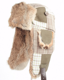 Olive Plaid Leinwand Mad Bomber ® Hut