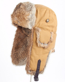 Duck Brown Canvas Mad Bomber® Hat