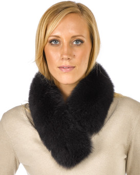 Charcoal Grey Fox Fur Collar