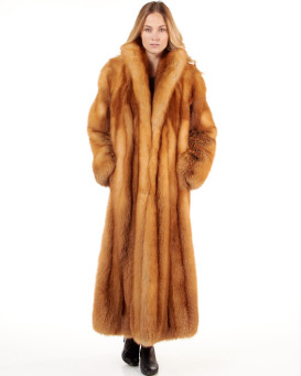 Cheska Red Fox Full Length Coat