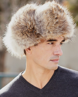 The Coyote Fur Russian Trooper Hat for Men