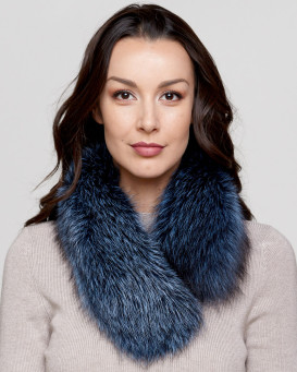 Denim Fox Fur Collar
