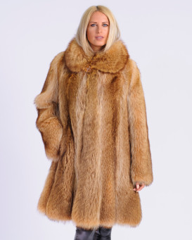 Elodie Gold Raccoon Fur Coat