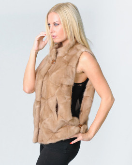 Ensley Sectioned Mink Fur Vest