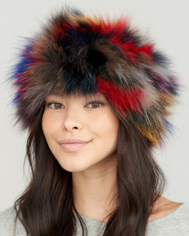 Etta Fox Fur Headband in Multi-Color